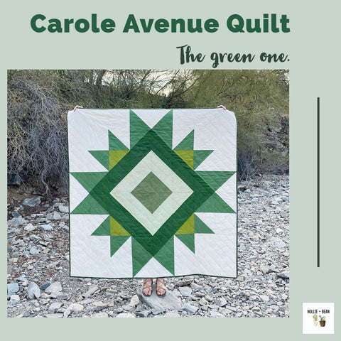 Nollie + Bean | Carol Avenue Quilt Pattern | The green one.