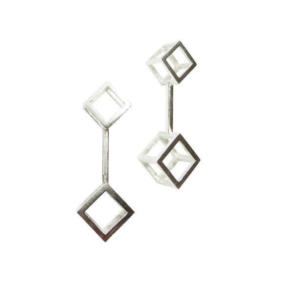 DBL Cube Drop Earrings