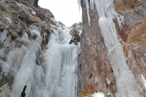 Steep Ice Climbing, Rock & Roll Gully, Mournes