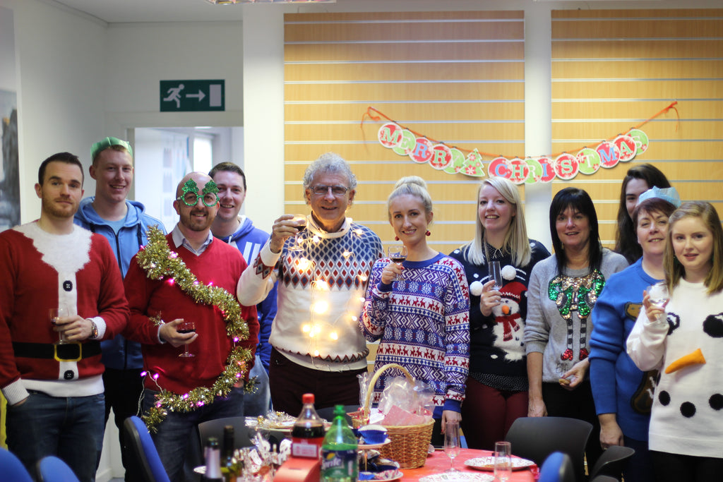 save the children, christmas jumper day party at Target Dry HQ
