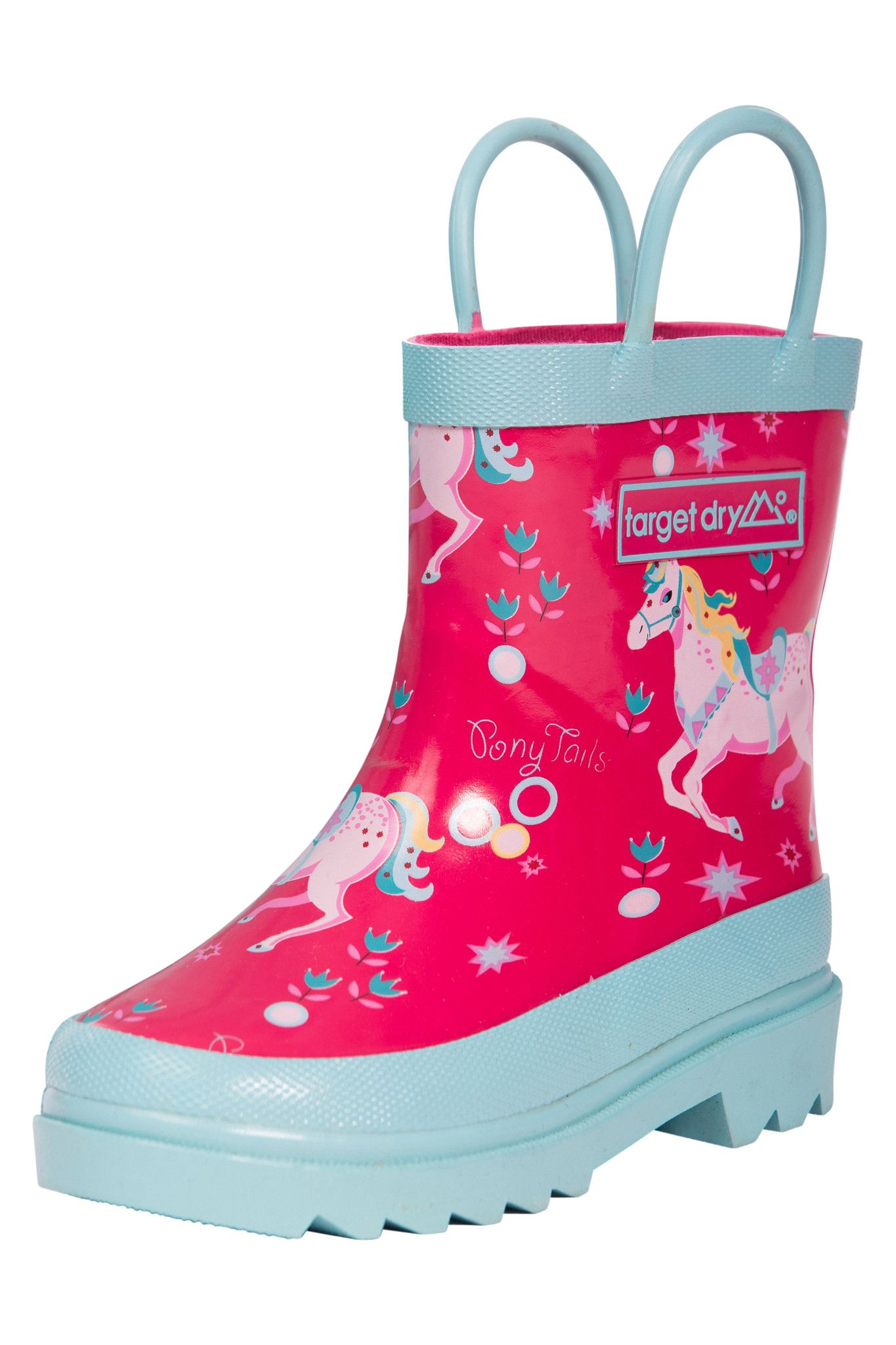 ... Target Dry Evie Girls Printed Rubber Welly Boots, Rose Pony ...