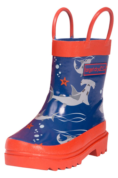 oscar boys printed rubber welly boots target dry. Black Bedroom Furniture Sets. Home Design Ideas