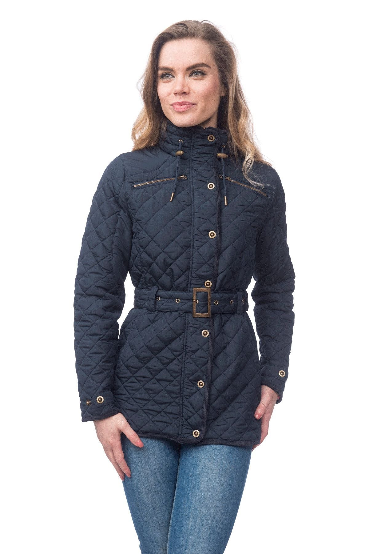 womens leather quilt rachel quilted jacket bilson women black