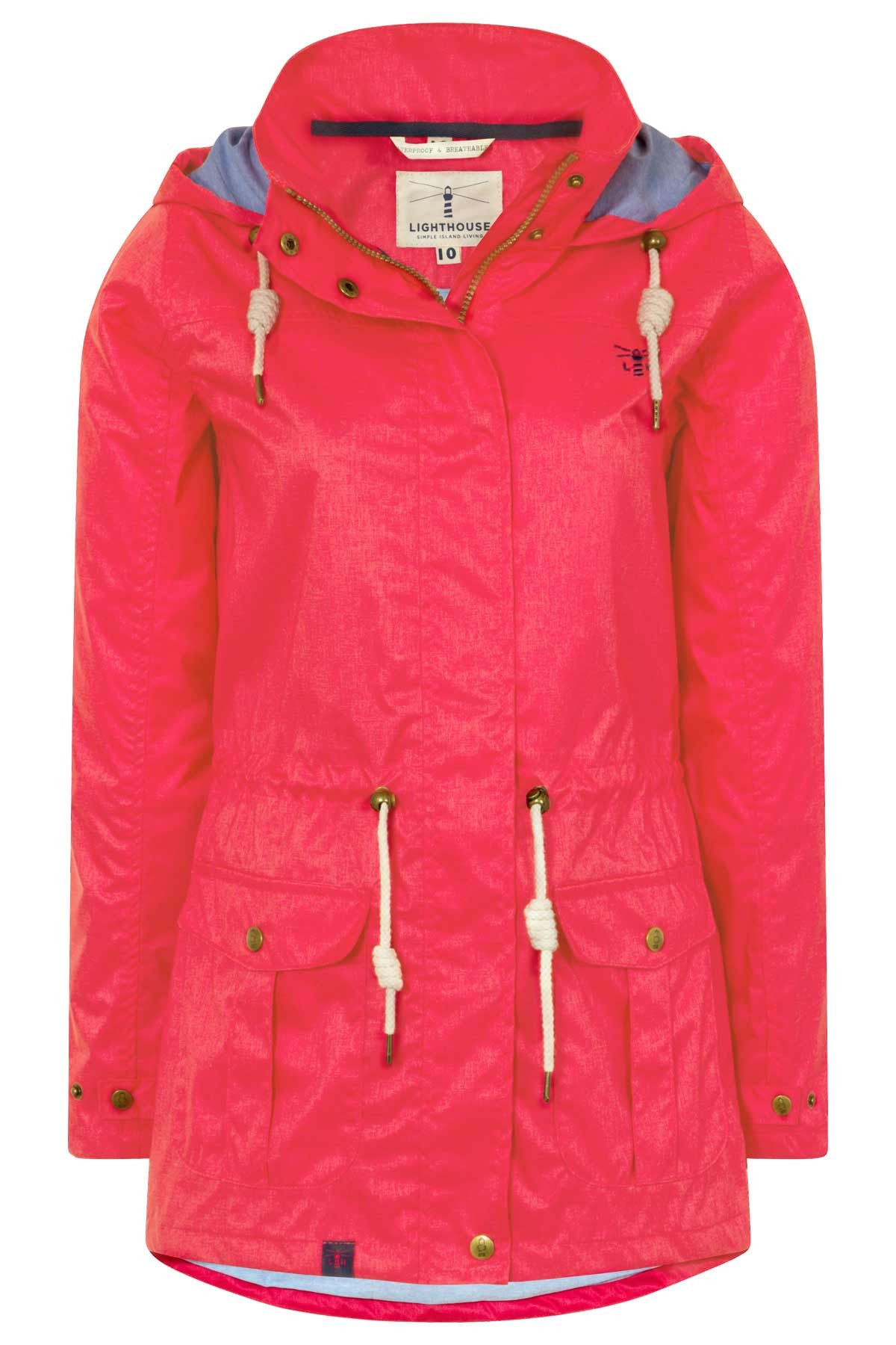 Lighthouse Fearn Womens Waterproof Raincoat in Red ... 31192f3b62