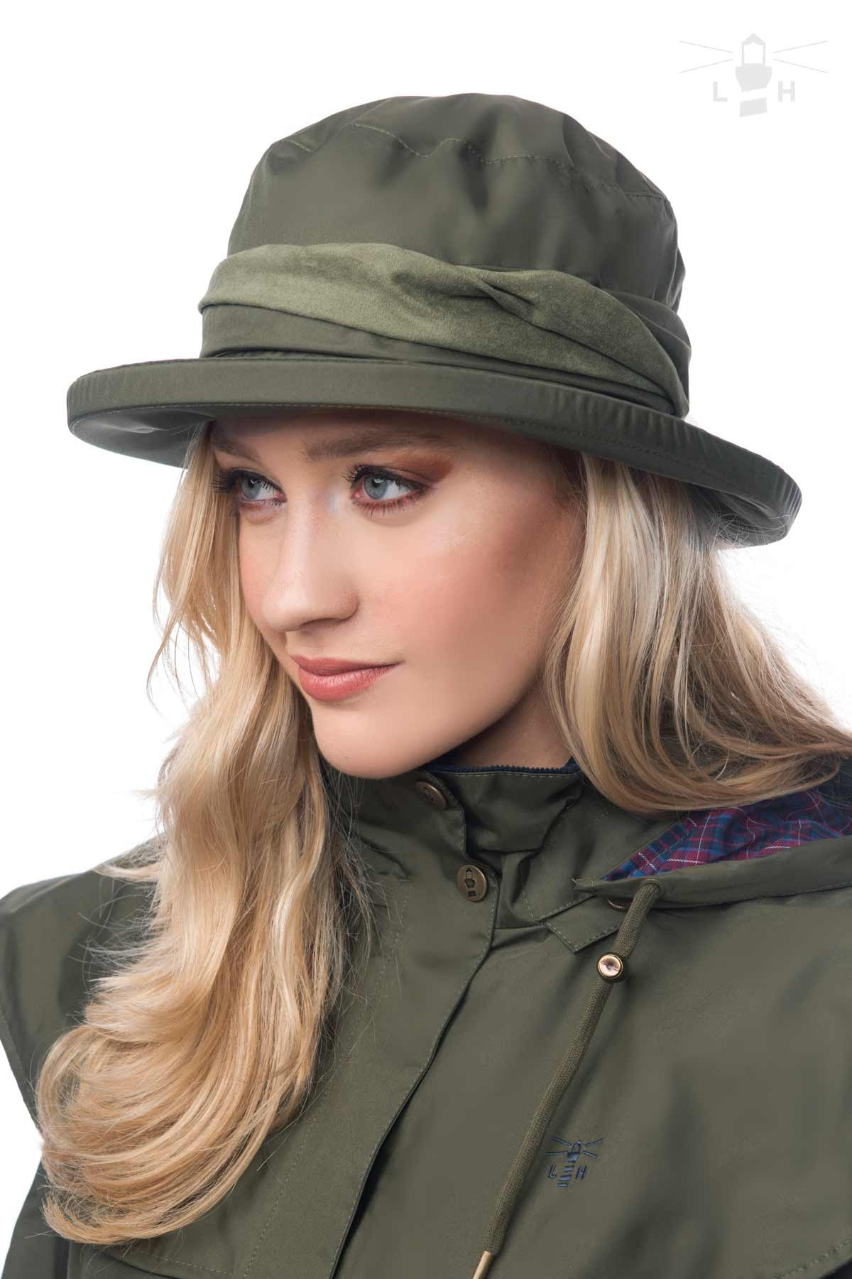 Lighthouse Womens Canterbury Cloche Hat in Green. a42f29dc283