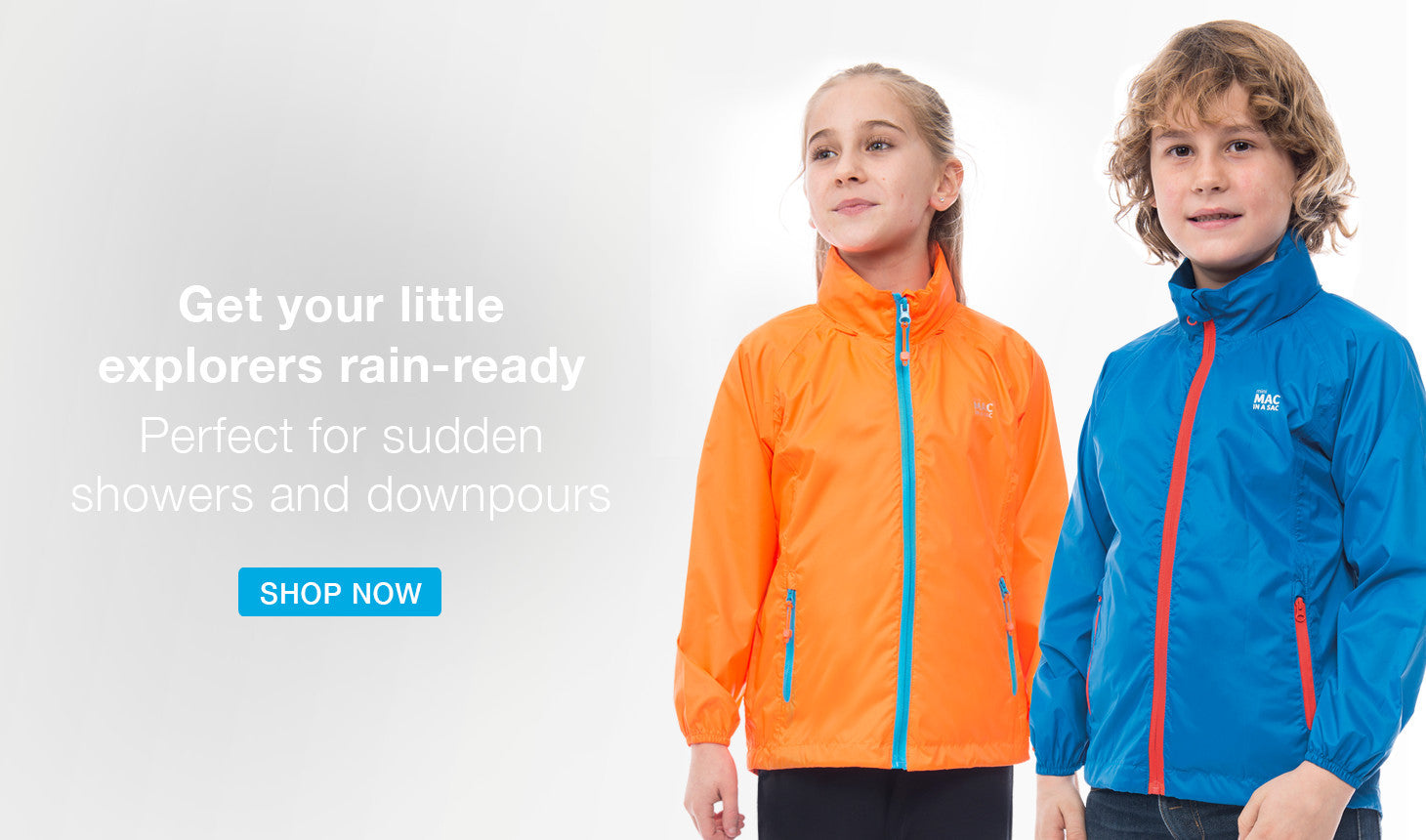 mac in a sac, kids waterproof packable jackets, kids lightweight rain jackets