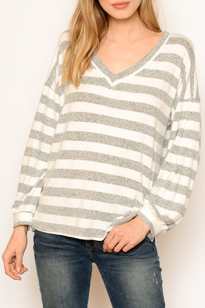V Soft Slouchy Sweater