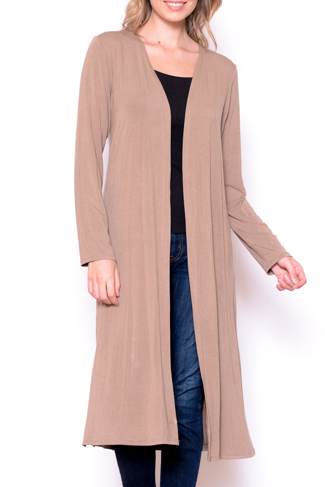 Solid Long Body Cardigan