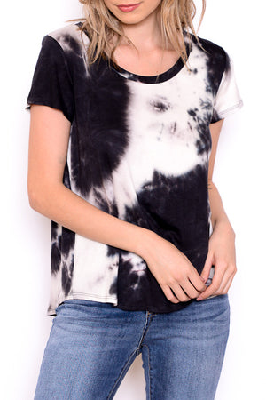 Short Sleeve Tie Dye Top