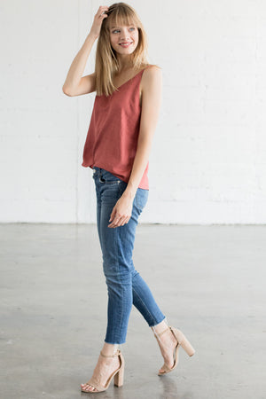 Smooth Transition Linen Tank