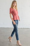 Walk the Line Wrap Top