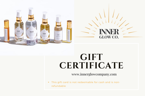 Inner Glow Co.  Personalized Gift Cards