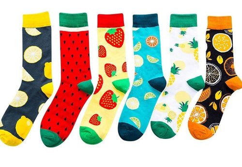 PACK 6 PARES MEIAS - FRUTAS