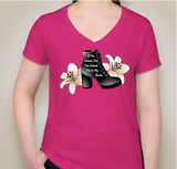 In My Boots Pink V-Neck - ALMOST SOLD OUT!