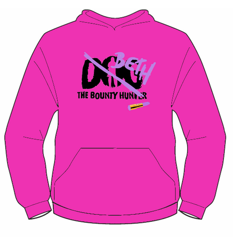 Pink Beth The Bounty Hunter Hoodie