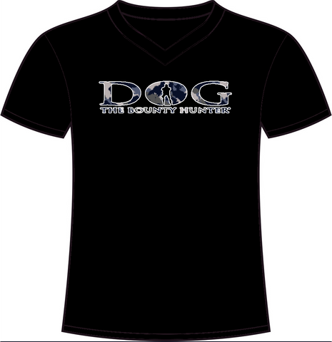 Black & Blue Camo V-Neck DOG Logo