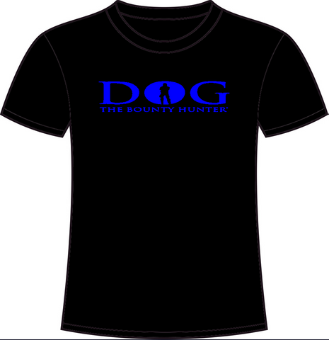 Black Crew Neck: Blue DOG Logo