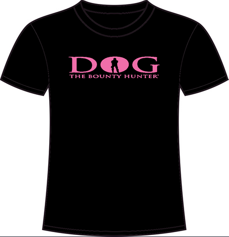 CLEARANCE Black Crew Neck: Pink DOG Logo
