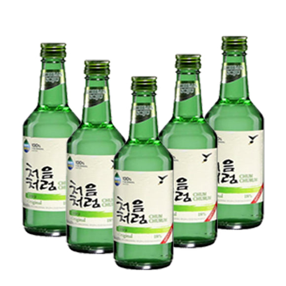 5 Botellas de Soju Original