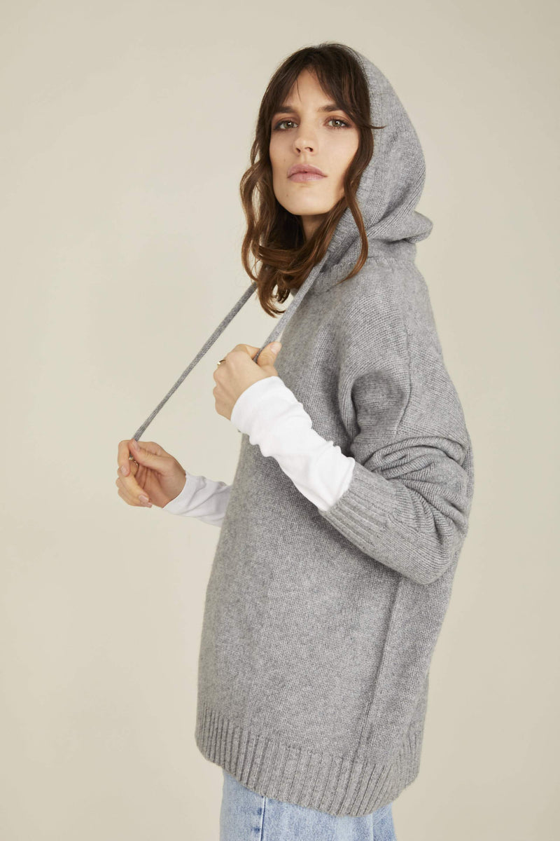 CRUMPET Rudy Hoodie Mid grey 100 Percent Cashmere