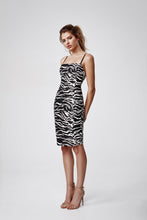 Load image into Gallery viewer, LEXI MIMI DRESS - BLACK/IVORY