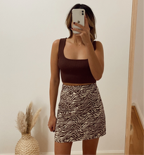 Load image into Gallery viewer, LAB ZEBRA MINI SKIRT