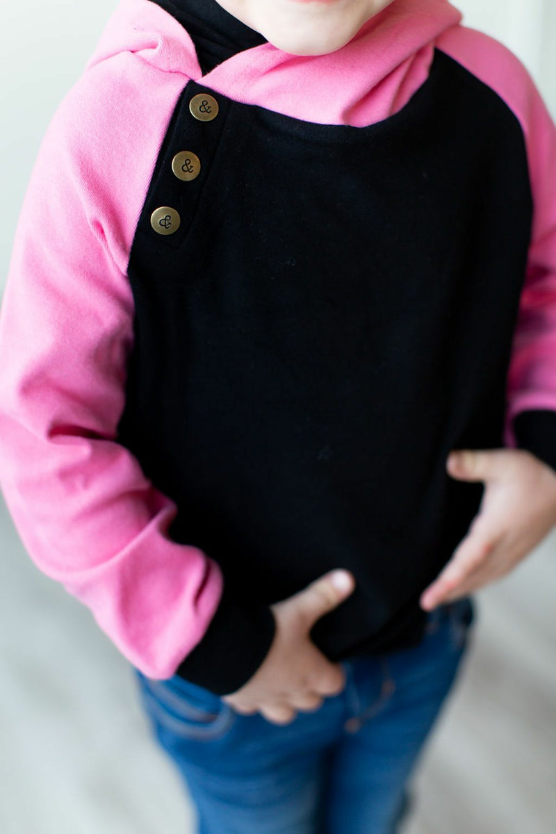 AMPERSAND: Baseball Black & Pink Kids Doublehood