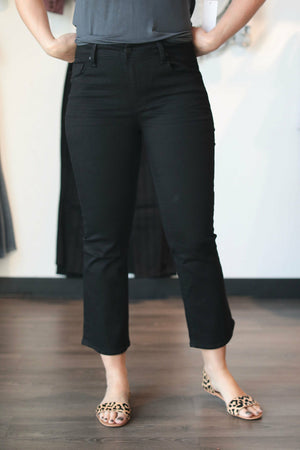 Black Cropped Bootcut