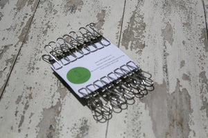 Stainless steel pegs set x 20