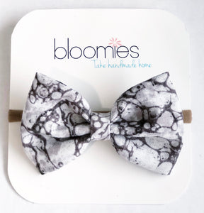 Marble Fall Cotton Bow - Bloomies Handmade
