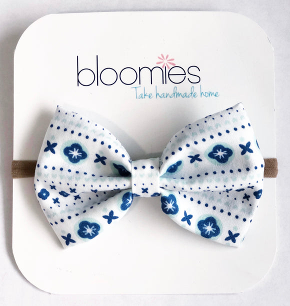 Blooms  Fall Cotton Bow - Bloomies Handmade