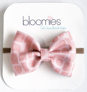 Geo Fall Cotton Bow - Bloomies Handmade