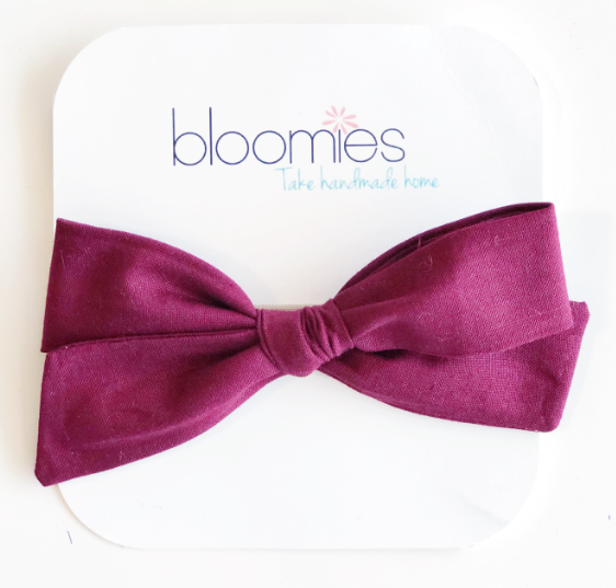 Burgundy Knot Bow