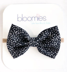 Speckle Fall Cotton Bow - Bloomies Handmade