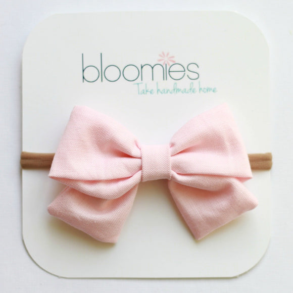 Cotton Candy Baby Girl Bow - Bloomies Handmade
