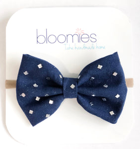 Diamond Fall Cotton Bow - Bloomies Handmade