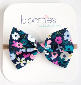 Fall Garden Cotton Bow - Bloomies Handmade