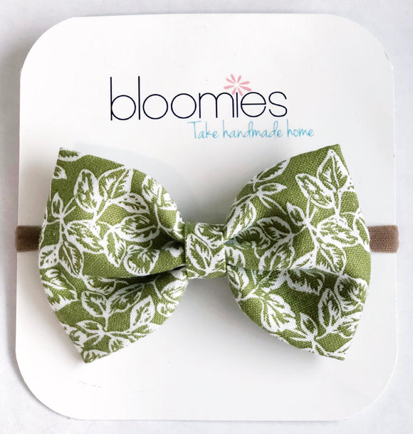 Forrest Fall Cotton Bow - Bloomies Handmade