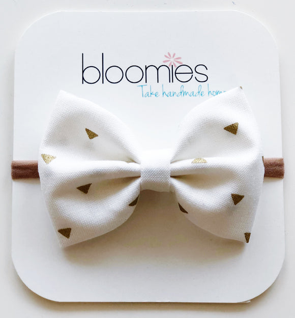 Gold Triangle Cotton Bow - Bloomies Handmade