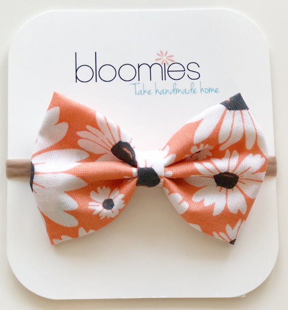 Large Daisy Cotton Bow - Bloomies Handmade