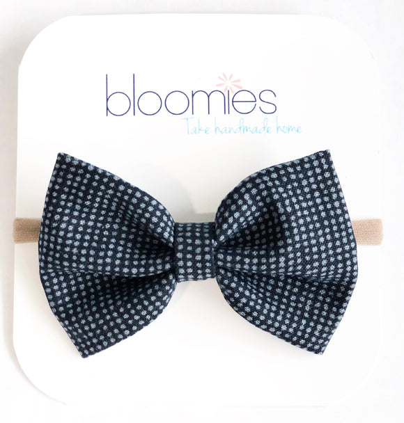 Needle Dot Fall Cotton Bow - Bloomies Handmade