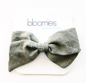Olive Knot Bow - Bloomies Handmade