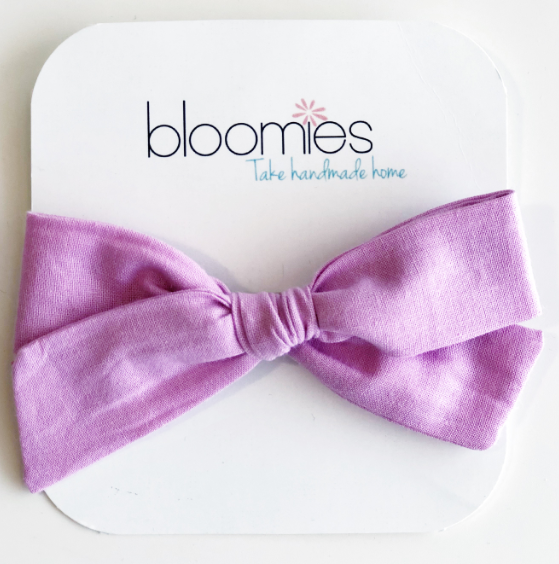 Pink Violet Knot Bow