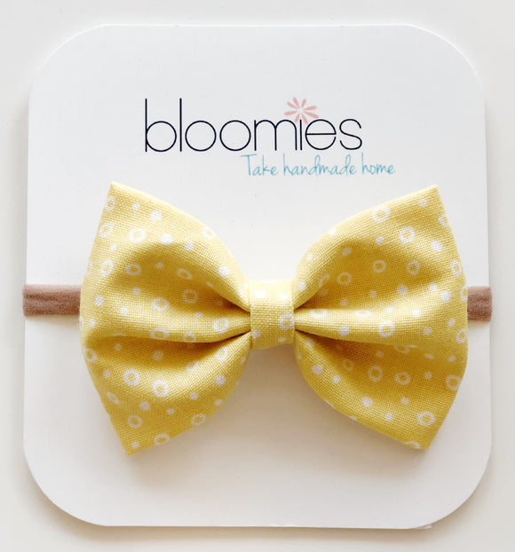Sunny Confetti Cotton Bow - Bloomies Handmade