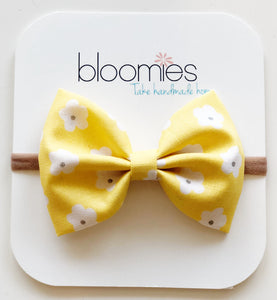 Sunny Daisy Cotton Bow - Bloomies Handmade