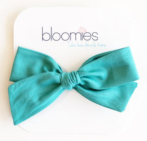 Teal Knot Bow