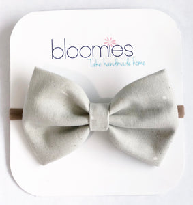 Wheat Dot Fall Cotton Bow - Bloomies Handmade