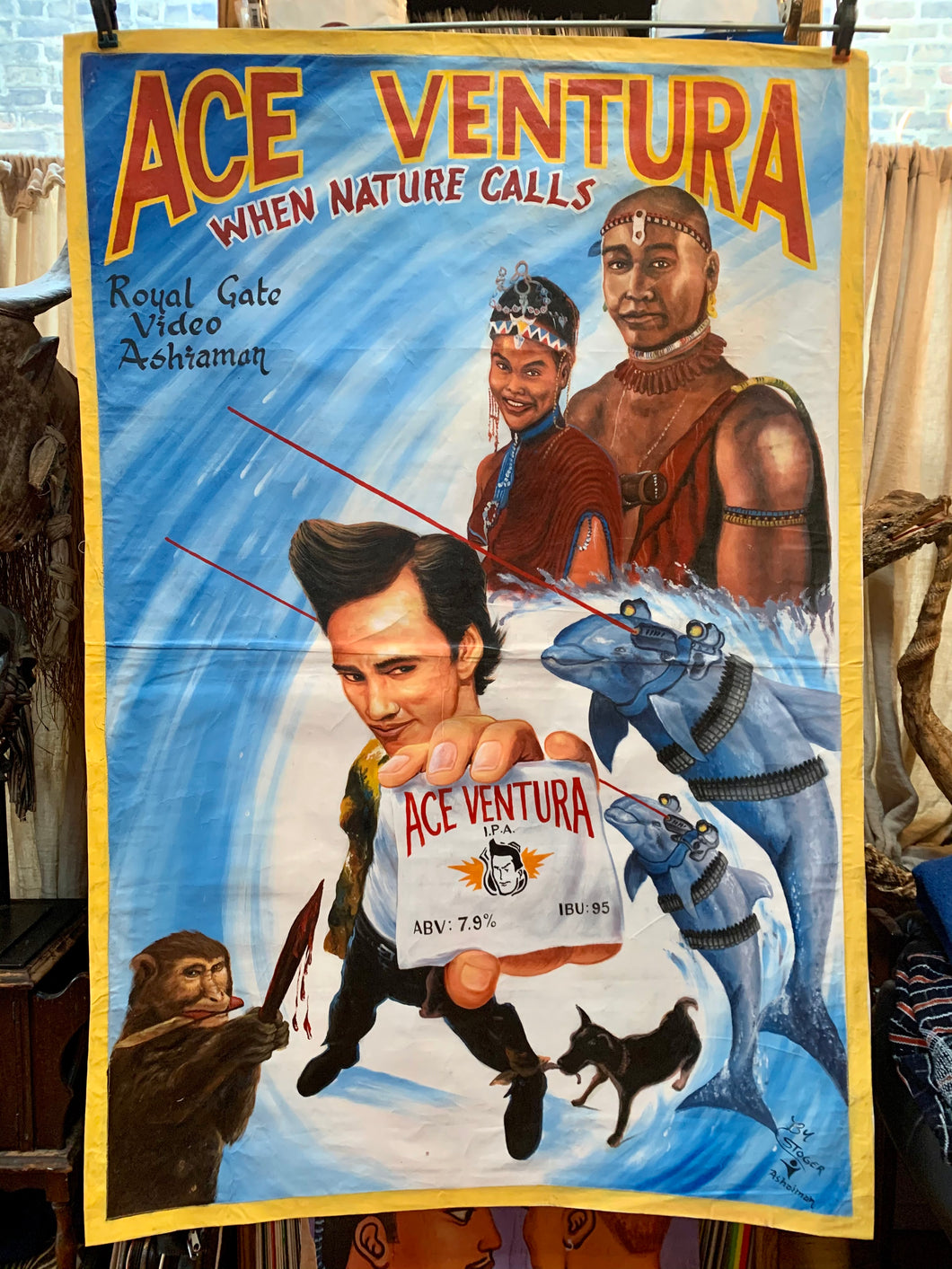 Ace Ventura: When Nature Calls - Original Painting by Stoger