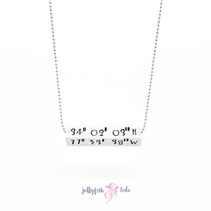 Latitude & Longitude Coordinate Necklace