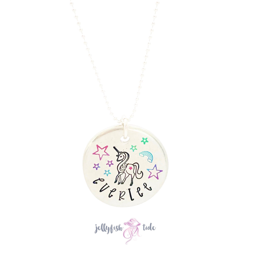 Unicorn Personalized Name Necklace
